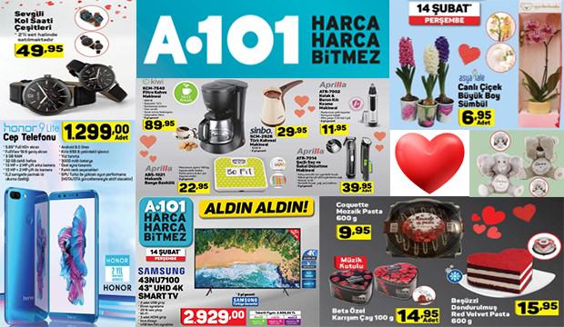 14 Şubat 2019 A101 aktüel ürünler indirim kataloğu! Sevgililer gününe özel indirimler...