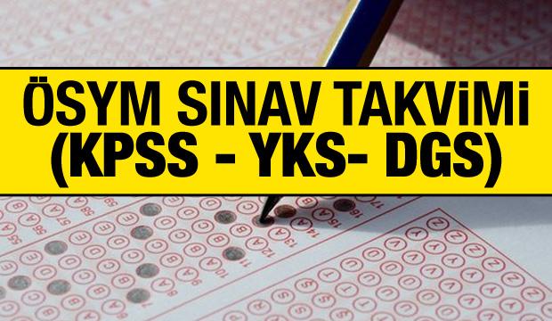 2020 ÖSYM sınav takvimi yayımlandı mı? KPSS, YKS, DGS sınavları ne zaman yapılacak?