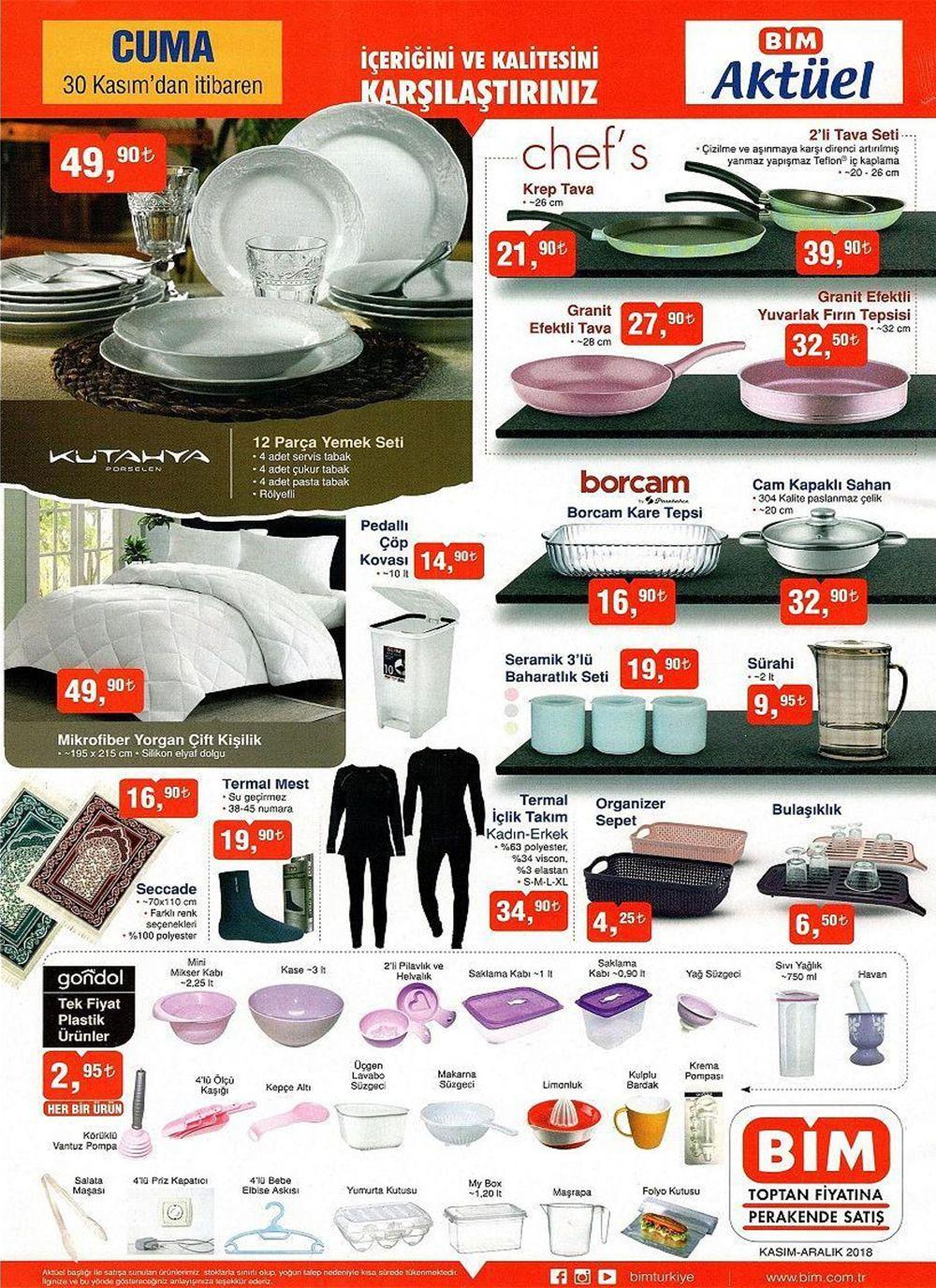 BİM 30 Kasım Cuma aktüel ürünler kataloğu 2018 BİM 7 Aralık aktüel ürünler bu hafta indirim listesi - 2. resim
