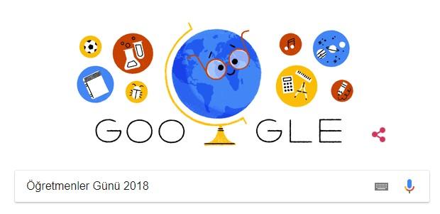 Google 24 Kasım Öğretmenler Günü için özel logo hazırladı!