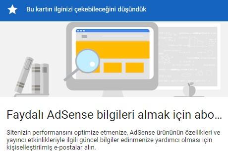 Faydalı AdSense bilgileri almak için abone olun