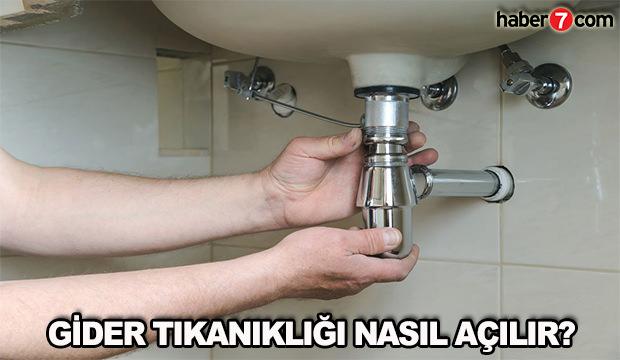 Gider tıkanıklığı nasıl açılır? Doğal yollar ile evde lavabo açma yöntemleri!
