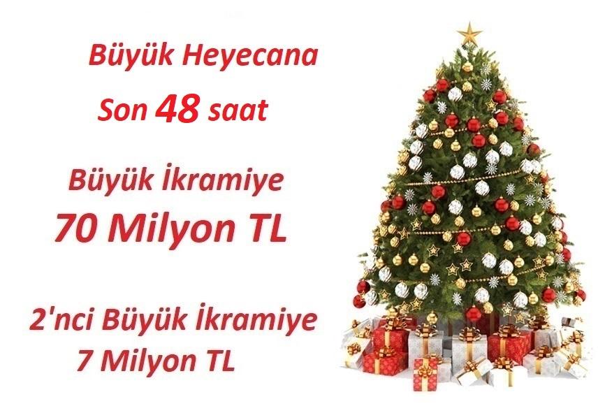 Milli Piyango 31 Aralık 2018 Yılbaşı Özel Çekilişi Büyük İkramiye TAM 70 MİLYON TL