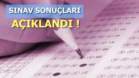 9 Aralık 2017 1. Dönem Sınav Sonuçları Açıklandı! Tıkla Sınav Sonuçları Öğren!