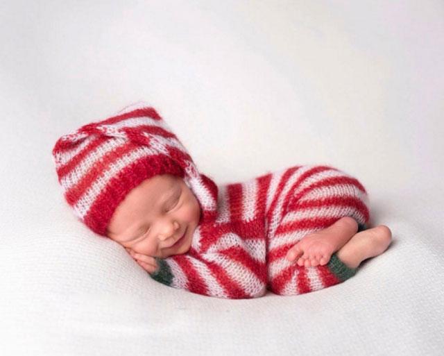 Yılbaşı için çekilmiş en güzel bebek resimleri