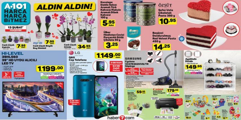13 Şubat 2020 A101 aktüel ürünler kataloğu: Sevgililer günü için özel kampanya...