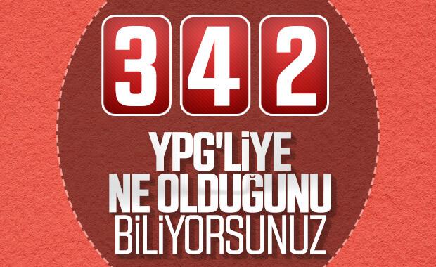 Barış Pınarı Harekatı operasyonunda şu ana kadar 342 teröristin öldürüldüğü açıklandı.